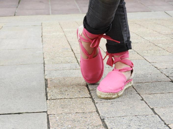 luzespadrille-l'espadrille valenciana rose fuxia pour les petites filles coquettes