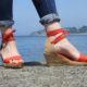 espadrille hawo lacet rouge