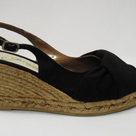 espadille chupa noir - luzespadrille - sandales concha