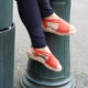 espadrille elastico rouge