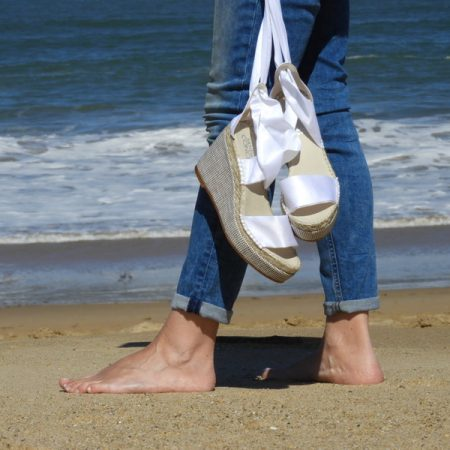 espadrille femme ruban satin sandales concha luzespadrille