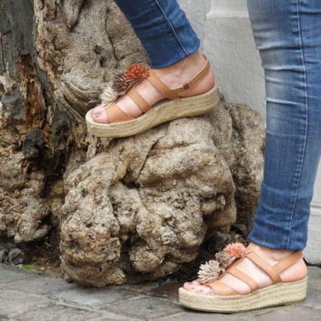 espadrille fleurs - luzespadrille - sandales concha