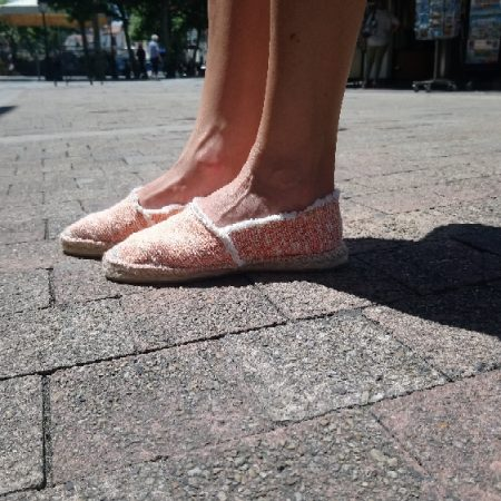 espadrille en tweed orange luzespadrille